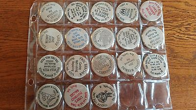 18 Indiana Wooden Nickels Lot  DC