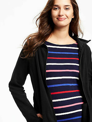Old Navy Maternity Micro-Performance Fleece Jacket in Black ~ NWT ~ Size Small S