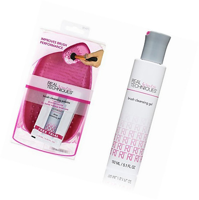 Real Techniques Brush Cleansing Palette and Deep Cleansing Gel Duo Set