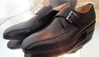 NWB Johnston & Murphy Men's Black Dress Shoes Buckle Loafers Size 10 15-0187
