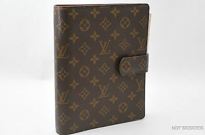 Authentic Louis Vuitton Monogram Agenda GM Day Planner Cover Old Model LV 24377