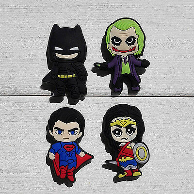 100pcs Batman VS Super Man PVC Shoe Charms Accessories Fit for Cro c&J ibbitz