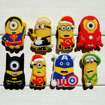 100pcs Minions PVC Shoe Charms Buckles Fashion Accessories Party Favors No.073C