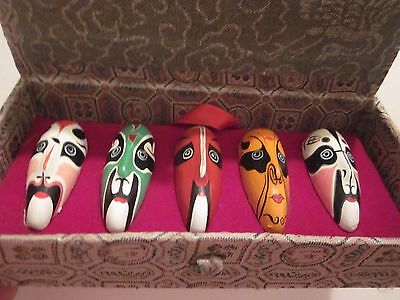 Chinese Asian Chinese Masks Set Of 5 Collectibles