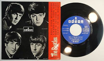 THE BEATLES - Roll Over Beethoven - PS SPANISH EP 1964 - DSOE 16.579 UNIQ COVER