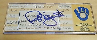Robin Yount Autographed Signed 3000th Hit Ticket Milwaukee Brewers 3000