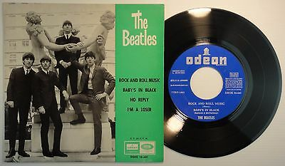 THE BEATLES - Rock And Roll Music - PS SPANISH EP- DSOE 16.641 Spain VG+/ VG+