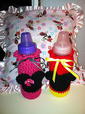 Baby Bottle Covers - Choose Minnie or Mickey Mouse