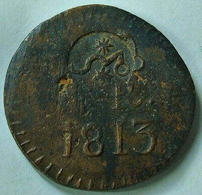 1813 Mexico Independence Oaxaca 8 Reales Sud Scarce Countermark Morelos KM:265.4