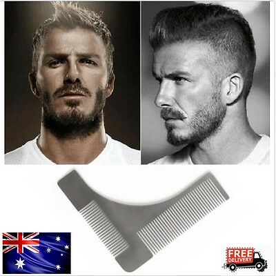 Lines Symmetry Stainless Steel Beard Shaping Template Comb Trim Tool Free Apron