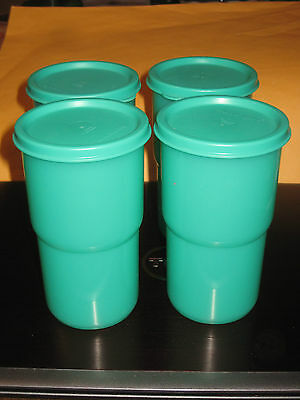 Vintage Tupperware 350 Ml tumblers with Lids (size G)