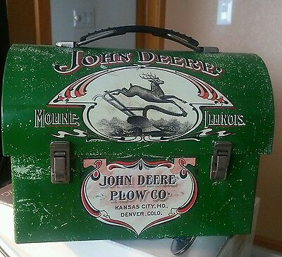 NEW John Deere Product Plow CO Lunch Box 1904 Farmers Companion Collector