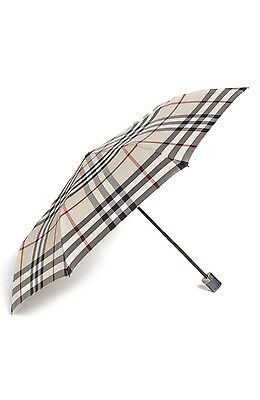 New Auth Burberry Check Folding umbrella.