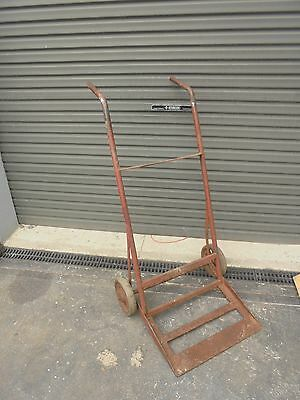 Vintage Steel railway trolley- cast iron wheels
