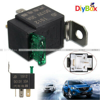 DC 12V 30A 4 Pin 4P Metal Universal Car Motor Automotive Fuse Fused Relay SPST