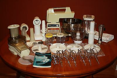 1986 Oster Electronic Touch Control Kitchen Center Complete Lots of Accessories