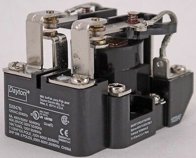 NEW Dayton 5X847N 120VAC-Coil 8-Pin 2-Pole DPDT Panel Open Power Relay