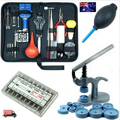 Watch Repair Tool Kit - Case Opener Hand Remover Spring Bars Case Press AU