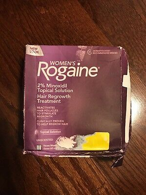 Women's Rogaine 2% Minoxidil Hair Regrowth Treatment 3 Month Supply Exp 2021