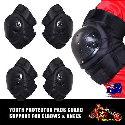 For Junior kid Youth ELBOW & KNEE Pad Guards PROTECT SKATEBOARD AUS PeeWee Boy