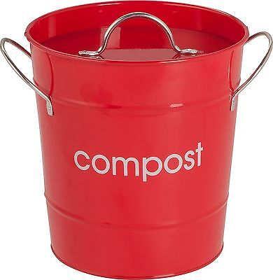 HOME Premier 7.5 Litre Food Waste Compost Bin - Red -From the Argos Shop on ebay