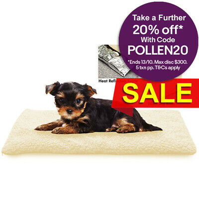 "25""/60cm Self Warming Pet Cushion Dog/Cat Bed/Mat Puppy/Kitten  Fleece Washable"