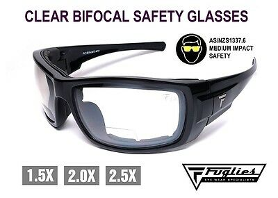 Fuglies Bifocal Clear Safety Glasses - AS/NZS1337 Medium Impact