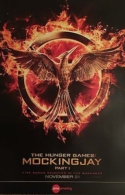 "EXCLUSIVE Limited Edition AMC 27""x40"" THE HUNGER GAMES MOCKINGJAY POSTER"