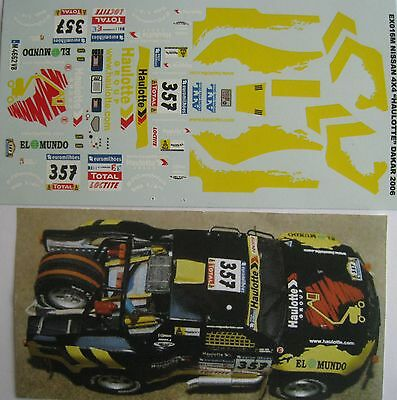 NISSAN 4 X 4 HAULOTTE PARIS DAKAR 2006 DECAL1/43e