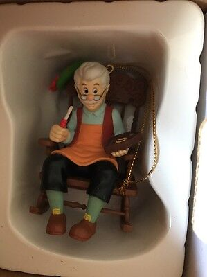 Disney Grolier Geppetto From Pinocchio Box Christmas Decoration Ornament