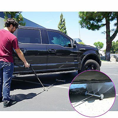 "Broutech 15"" Drive way Washing Broom Cleaner, 4000 PSI W/36'' Extention Wand"