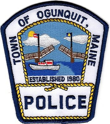 Town of Ogunquit blue border Police Patch Maine ME NEW
