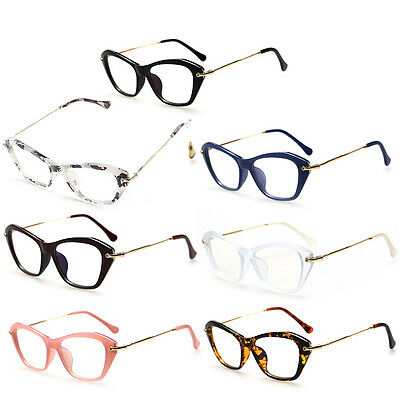 Women Eyeglasses Metal Frame Clear Lens Eye Glasses Sexy Cat Eye Optical Glasses