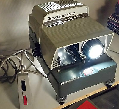 BRAUN Germany Paximat-N12 Electric 35mm Slide Projector With Remote Control VGC