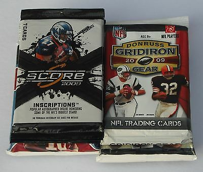 Nfl Trading Cards Lot Of 25 Mixed Packs New & Sealed