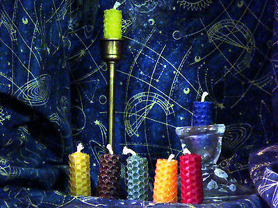 Baby Bees Wiccan One Use Spell Candles 100% Hand Rolled Bees Wax