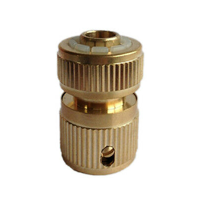 """Brass Auto Water Guide Quick Fit Female  Pipe Connector Hoselock Clips 1/2 """" HWW"""