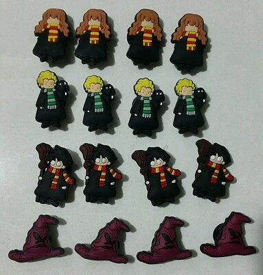16 Harry Potter Charms for Shoe, Loom Bracelet, Charm Party Favors, Gift