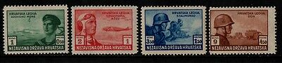 1943 Croatia War Stamp(Mnh) S.g.85-88