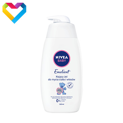 NIVEA BABY EMOLLIENT SOOTHING HYPOALLERGENIC WASHING GEL FOR BABIES 500ml 86283