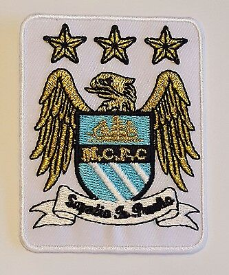 Man City FC Crest Iron on/sew on soccer football patch badge