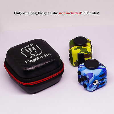 Fidget Cube Anxiety Stress Relief Focus Dice Bag Carry Case Packet Container