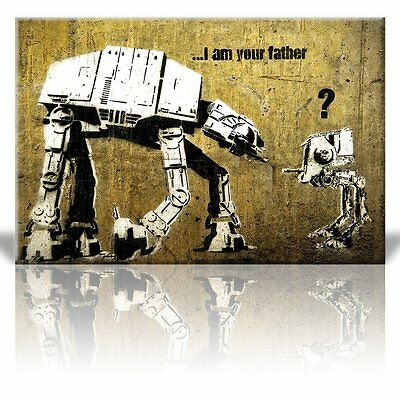 Canvas Print Wall Art - I am your Father - AT-AT and AT-ST - Street Art-24 x 36