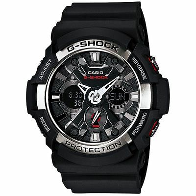 Casio G-Shock Men's Analouge & Digital Watch - Resin Strap - World Time Function