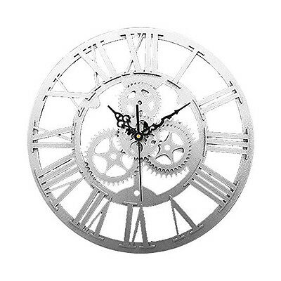 Vintage Antique Style 30cm Wall Clock Home Bedroom Retro Kitchen S2H8
