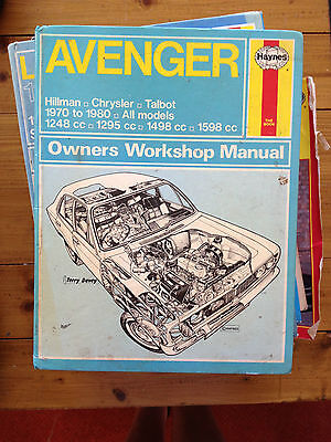 Hillman Chrysler Talbot Avenger Haynes Manual