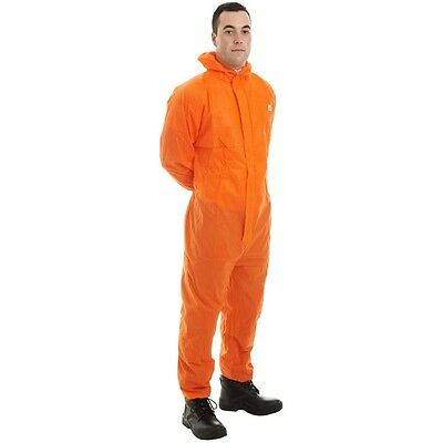 Disposable Orange Supertex Sms Coverall Type 5/6 Surplus Stock From £2.50 A Set!