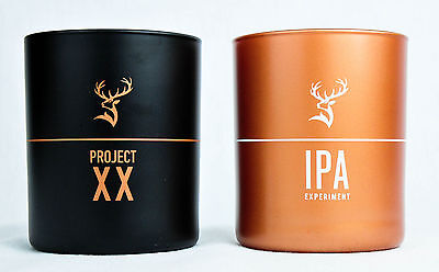 "2 x Glenfiddich Whisky, Glas, Sonderedition ""IPA Experiment Gold, XX Project"""