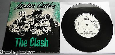 "The Clash - London Calling UK CBS 1979 7"" Single Green/Red P/S"