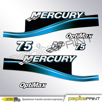 KIT adesivi MERCURY 75 cv fourstroke/efi/optimax/saltwater plastificati outboard